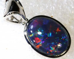 17 CTS  TRIPLET OPAL SILVER PENDENT OF-2139