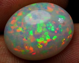 6.35 CRT AMAZING MILKY HONEYCOMB RAINBOW PRISM COLOR WELO OPAL