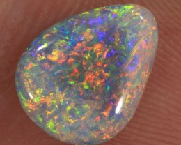 1.35ct 10x8mm Solid Lightning Ridge Dark Opal [LO-944]