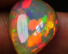 3.90 CRT AMAZING DARK BROWN PERFECT PUZZLE NEON RED COLOR WELO OPAL