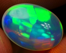 3.30 CRT CRYSTAL CLEAR VERY SWEET PRISM PUZZLE COLOR PATTERN WELO OPAL