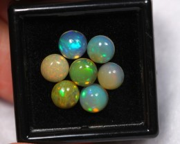 NR Auction ~ 3.72ct Round 6mm Welo Opal Parcel Lot