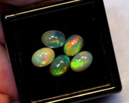 NR Auction ~ 2.67ct Oval 7x5mm Welo Opal Parcel Lot