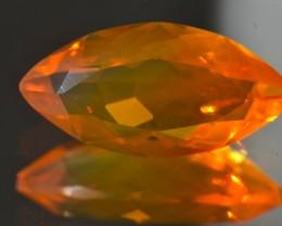 4ct Mango Fire Mexican Natural Transparent Opal