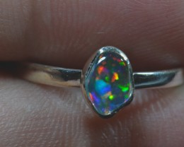 9sz Mexican Fire Opal .925 Silver Taxco Handmade Quality Ring
