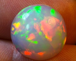 3.65ct Round Ethiopian Solid  Opal