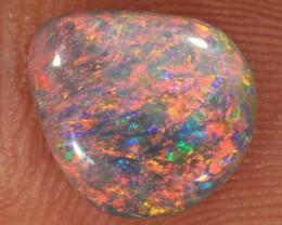 1.2ct 10x9mm Solid Lightning Ridge Dark Opal [LO-947]