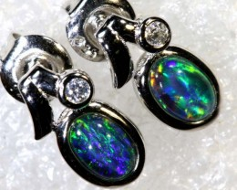 9.5 CTS TRIPLET OPAL SILVER EARRINGS OF-2146