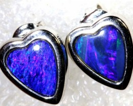 16 CTS TRIPLET OPAL SILVER EARRINGS OF-2158