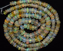 34.45 Ct Natural Ethiopian Welo Opal Beads Play Of Col