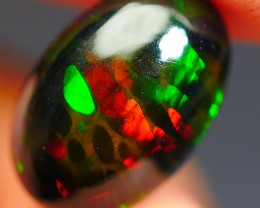 1.60 CRT BEAUTY 3D HONEYCOMB PATTERN MULTI PLAY COLOR SMOKED WELO OPAL