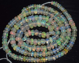 33.25 Ct Natural Ethiopian Welo Opal Beads Play Of Color