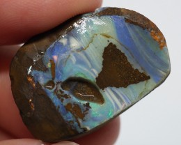 24.25CT VIEW ROUGH QUEENSLAND BOULDER OPAL RR6