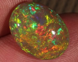 5.30CT~BRILLIANT 5/5 DARK BASE WELO OPAL CAB~FULL SATURATION OF FIRE