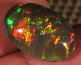 8.51CT~BRILLIANT 5/5 DARK BASE WELO OPAL CAB~HONEYCOMB