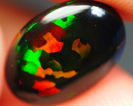 1.65 CRT BEAUTY PERFECT PUZZLE PATTERN COMMON BRIGHT SMOKED WELO OPAL