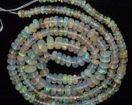 31.10 Ct Natural Ethiopian Welo Opal Beads Play Of Color