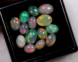 NR~ 3.84ct Oval Mix Size Welo Opal Parcel Lot
