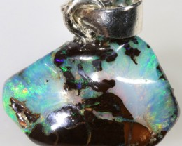 8.50 CTS SILVER  BOULDER OPAL NUGGET FREE CHAIN [SOJ6248]