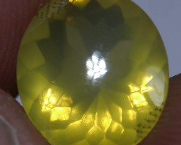 2.00 CT YELLOW UNTREATED CLEAR FIRE INDONESIAN FACETED OPAL