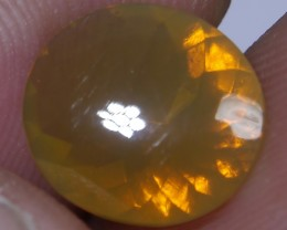 1.70 CT UNTREATED YELLOWISH FIRE INDONESIAN FACETED OPAL