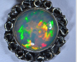 Gorgeous Solid Opal Pendant Quality Craftsmanship Sterling Silver