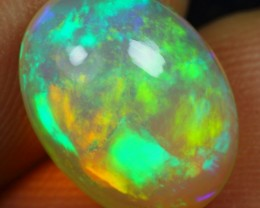 Free Shipping-Video- 3.50cts Exquisite Crayon Color Ethiopian Opal