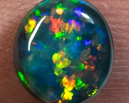 BLACK OPAL LIGHTNING RIDGE NATURAL SOLID 1.65ct GEM BOPLHD271217