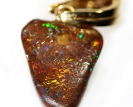 20.25 CTS BOULDER OPAL NUGGET -WITH  GOLD PEARL ENHANCER [SOJ6295]