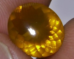 1.65 CT UNTREATED YELLOWISH FIRE INDONESIAN FACETED OPAL