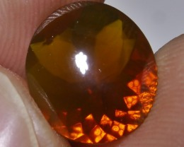 1.95 CT RARE UNTREATED ORANGE CLEAR FIRE INDONESIAN FACETED OPAL