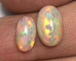 Brilliant 5/5  Honeycomb Pattern Welo Ethiopia Opal Cab Set