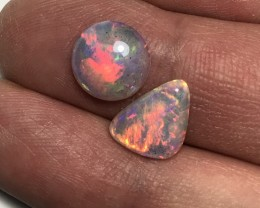 Beautiful Round Welo Ethiopia Opal Cab & Sail