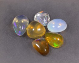 42.85ct Ethiopian Crystal Opal Specimen Lot