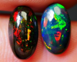 2.25 CRT AWESOME PAIRS BRILLIANT PLAY COLOR SMOKED WELO OPAL