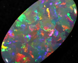 7.55 CTS SEMI BLACK OPAL GREY BASE LIGHTNING RIDGE [LRO150]