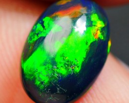 1.80 CRT GORGEOUS BROADFLASH GREEN GOLDEN COLOR SMOKED WELO OPAL
