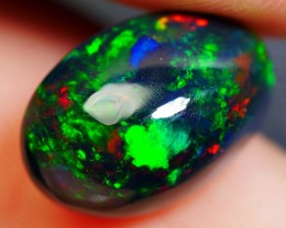 2.70 CRT BEAUTY FLORAL PATTERN MULTICOLOR FULL BASE SMOKED WELO OPAL