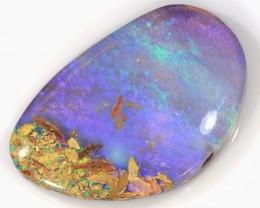 16ct 26x17mm Pipe Wood Fossil Boulder Opal  [LOB-1123]