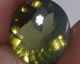 3.40 CT UNTREATED GREENISH CLEAR FIRE INDONESIAN FACETED OPAL
