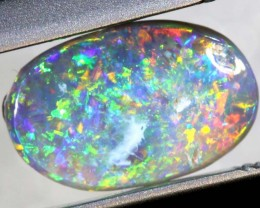 0.80 CTS - N6 DARK OPAL POLISHED STONE TBO-787