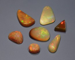 16.61 ct Ethiopian Welo Opal 7 Pcs. Parcel / Lot
