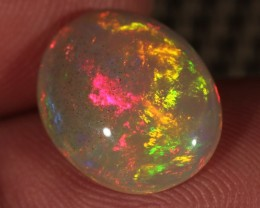 3.40CT~BRILLIANT 5/5 DARK BASE WELO OPAL CAB~FULL SATURATION