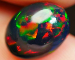 2.75 CRT BEAUTY BRIGHT FLORAL PATTERN PLAY COLOR SMOKED WELO OPAL