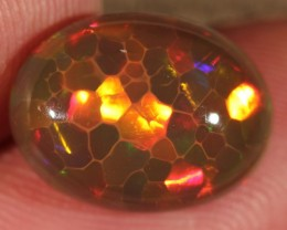 5.79CT~BRILLIANT 5/5 DARK BASE WELO OPAL CAB~HONEYCOMB