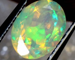 0.55 CTS ETHIOPIAN WELO FACETED OPAL STONE FOB-1266