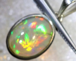 8.40 CTS ETHIOPIAN OPAL SILVER PENDANT FOB-1291