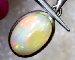 8.9 CTS ETHIOPIAN OPAL SILVER PENDANT FOB-1292