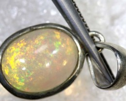 7.45 CTS ETHIOPIAN OPAL SILVER PENDANT FOB-1294