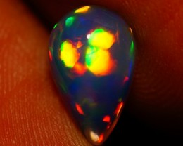 1.14CT BROADFLASH PATTERN EXQUISITE FLASHY MULTI COLOR ETHIOPIAN OPAL-AC106